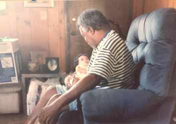 Daddy Looking Down at Jaida